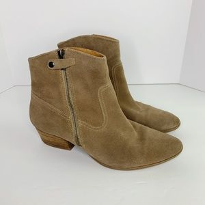 Sofft | Padma Suede Bootie in Stone Taupe sz 10